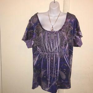 Blue/Purple Paisley Tunic🛍